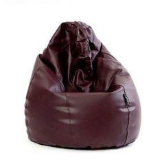 pouf poire a microbilles marron chocolat 8500da