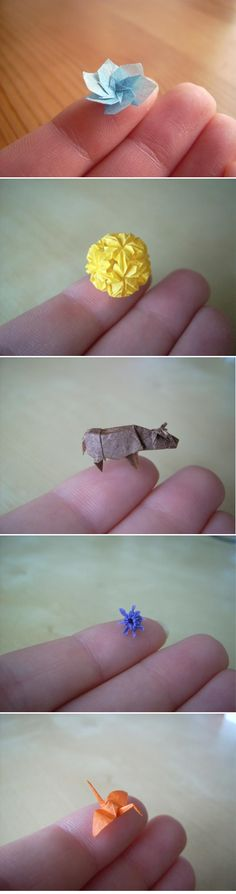 origami - I bet my daughter could do this!  She once clearly printed her brother's name on a grain of rice with a fine point pen!