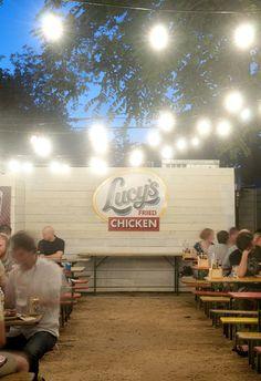 Fried Chicken Austin | Lucy's Fried Chicken... outdoor seating area/beer garden
