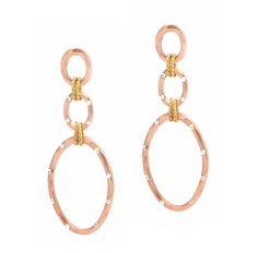 Rose Gold Crystal Drop Earrings $16
