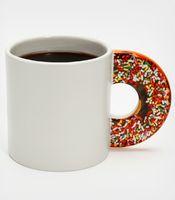 Coffee Mug w/ Doughnut-shaped handle