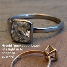 Bling-a-Ching on Pinterest   Bezel Engagement Rings, Rose Gold and ...