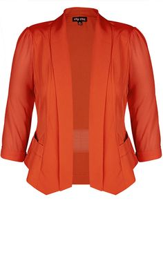 City Chic - COLOURED DRAPEY BLAZER JACKET - Women's Plus Size Fashion - City Chic Your Leading Plus Size Fashion Destination #citychic #citychiconline #newarrivals #plussize #plusfashion