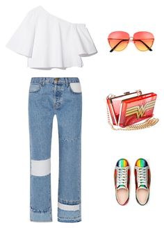 """🚀💥"" by bibidm on Polyvore featuring mode, Current/Elliott et Gucci"