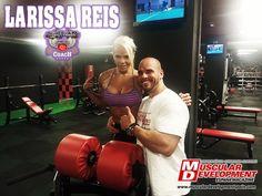 Larissa Reis en España para Muscular Development. Entrena con Sergio Fernandez 09 - 2013 Parte 1