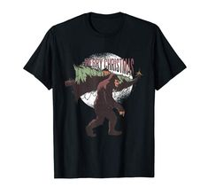 Amazon.com: Winter Holidays Christmas Tree Big Foot T-Shirt: Clothing
