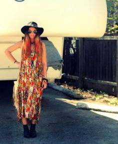 FP ONE Criss Cross Florals Maxi Dress style pic on Free People