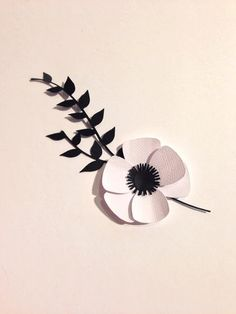 Grooms Wedding Boutonniere With Fancy Anemone by RubyCanoeDesign, $5.00