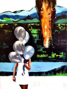"""Saatchi Art Artist Corrado Zeni; Painting, """"Eloge de la fuite"""" #art"""