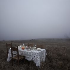 Tea in a fog, madly.