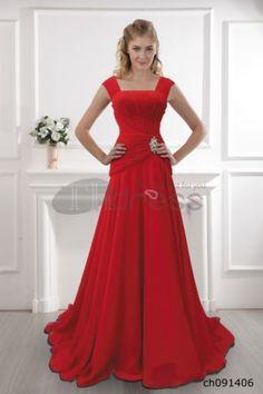 Red shoulder dress 2012 red dress A-line dress