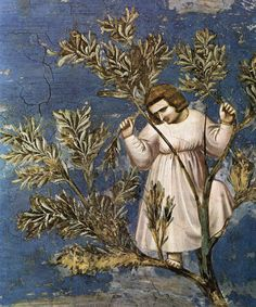 Giotto: No. 26 Scenes from the Life of Christ: 10. Entry into Jerusalem (detail)