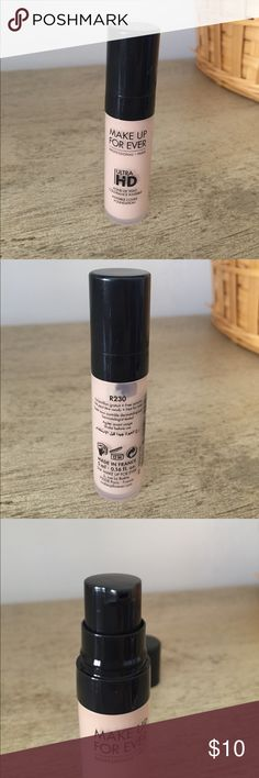 Make up for ever ultra HD foundation travel size Travel size, never used, color R230. Makeup Forever Makeup Foundation