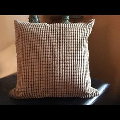 17 x 17 waffle pillow cover set of 2 Khaki 17 x 17 waffle pillow cover. Cover only set of two. Hidden zipper great for any room of the house Posh Spaces Other