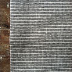 Image of Kitchen Cloth: Grey Thin White Stripe