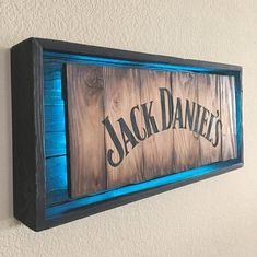 Rustic JACK DANIELS Modern Neon sign Hand Made -Hand Painted Rustic Whiskey signs. All materials are from reclaimed pallet wood Actual sign Offered in 2 different colors: •Oak Barrel style (with BLACK lettering) **•Weathered Grey (with BLACK lettering)** Backing box is Rustic Black All come