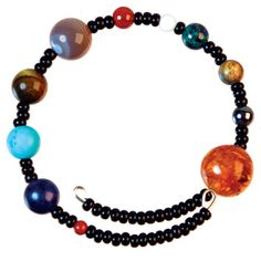 Solar system bracelet - I would love to create this bracelet with my science classes.