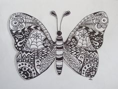 deviantART: More Like Zentangle dragonfly by luzilla