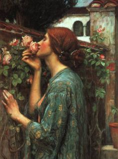 My Sweet Rose.   John William Waterhouse  One of my favorite paintings!