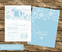 Frozen Inspired Snowflake Invitation Suite - Printable DIY PDF on Etsy, $15.00
