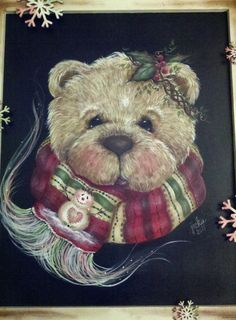 Painted Holly Bear by Jamie Mills-Price for my mom for Christmas.  Can you tell I love anything by Jamie Mills-Price?