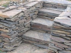Mauerstein Schiefer, aus Polen Firewood, Garden, Plants, Outdoor, Inspiration, Natural Stones, Outdoors, Biblical Inspiration, Woodburning