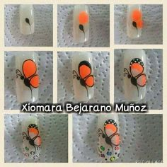 Fails Art Paso A Paso Mariposa 66 Ideas Rüya Tabirleri Butterfly Nail Designs, Butterfly Nail Art, Nail Art Designs, Nail Salon Decor, Natural Nail Designs, Animal Nail Art, Pink Manicure, Best Acrylic Nails, Hot Nails
