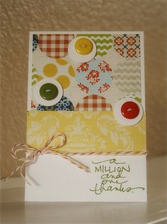 What a cute, happy card by Ashley Harris. Made with our A Million and One by Ali Edwards stamp set.