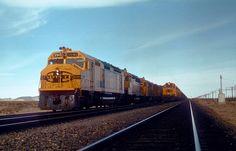 Santa Fe Railway York Canyon to Kaiser coal train 788 at Goffs, CA