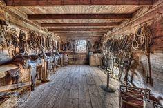 Tack room. #CowboyLife #LifeoutWest #Western #Barn