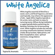 White Angelica Essential Oil Pin
