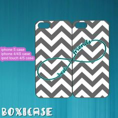 Grey Chevron,Infinity,Best Friends---iphone 4 case,iphone 5 case,ipod touch 4 case,ipod touch 5 case,in plastic,silicone and black,white. on Wanelo