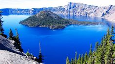 Crater Lake A Caldera Lake In The Western Of United States ...