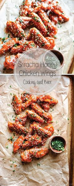 With football season right around the corner these sriracha honey chicken wings are the perfect addition to your game day menu!