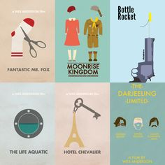Wes Anderson films. So obsessed.