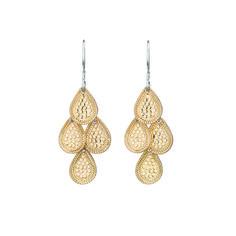 Anna Beck: Earrings: Chandelier Earrings - Gold at Brown Goldsmiths Jewelry Box, Jewlery, Fine Jewelry, Jewelry Making, Gold Chandelier Earrings, Drop Earrings, Glitter Fashion, Fashion Jewelry, Sparkle