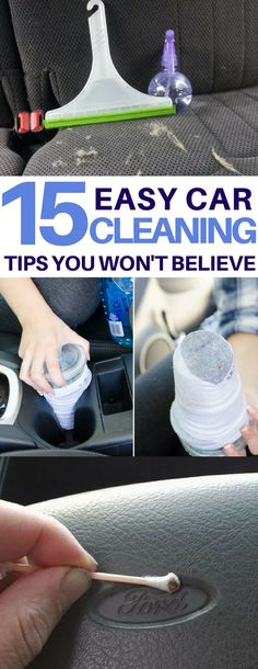 Genius car cleaning hacks I must try on my dirty car! How to clean headlights, tires, get rid of bumper stickers and more amazing car cleaning tips & tricks using things I already have! cleaning http://tipsrazzi.com/ppost/541980136396448110/