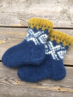 """Excited to share this item from my #etsy shop: Handknitted felted Norwegian wool socks in """"Marius"""" design"""
