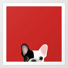 French Bulldog 2 Art Print by Anne Was Here - $15.50
