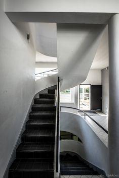 Visite en photos de la Villa Savoye à Poissy, architecte Le Corbusier.