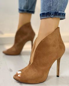 Womens High Heel Winter Boots,Claystyle Womens Fashion Pointed Thick Heel Shoes Waterproof Platform High Heel Boots