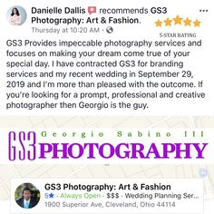 Danielle Dallis describes her wedding experience with no Photographer Georgio Sabino and Team. Pin Up Photography, Photography Services, Best Fashion Photographers, Simple Web Design, West Palm Beach Florida, Photoshop Software, Branding Services, Online Checks