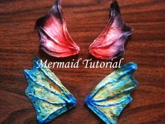 DIY: Latex Mermaid Fins/Ears - COSPLAY IS BAEEE! Tap the pin now to grab yourself some BAE Cosplay leggings and shirts! From super hero fitness leggings, super hero fitness shirts, and so much more that wil make you say YASSS! Scarecrow Makeup, Halloween Makeup, Halloween Costumes, Diy Costumes, Costume Ideas, Mermaid Face Paint, Mermaid Fin, Mermaid Tails, Siren Costume