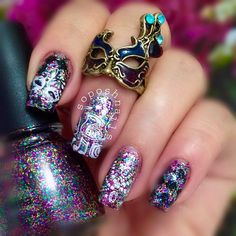 Celebrate Fat Tuesday in Style With Mardis Gras Nail Art - - NAILS Magazine