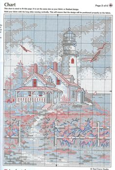 House and lighthouse free cross stitch pattern                                                                                                                                                     More