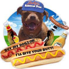 "14"" Custom Ruby's American Dogz Hot Dog Concession Trailer Food Truck Decal #SolidVisionStudio"