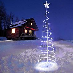 LED Spiral Tree Light Indoor Outdoor Yard Cool White 120 Bulbs 7 Attractive Lighting Effects Christmas Art Decoration Lamp >>> Check this awesome product by going to the link at the image. (This is an affiliate link) Spiral Christmas Tree, Spiral Tree, Colorful Christmas Tree, Christmas Art, Christmas Items, White Christmas, Outdoor Christmas Decorations, Light Decorations, Holiday Decor