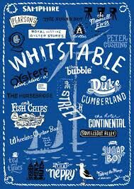 Hand-drawn Whitstable icons print, by Have A Gander on Folksy, Maunsell Forts, British Beaches, British Seaside, Whitstable Kent, Oyster Festival, Kent Coast, Hand Drawn Type, Things To Do In London, England And Scotland