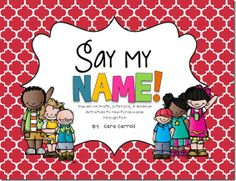 Comprehensive, cross curricular NAME UNIT!  Perfect for back to school K-1!!!