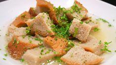 Omas Brotsuppe - Rezept von Kochschwabe Comfort Food, Cantaloupe, Fruit, Dinner Rolls Recipe, Easy Recipes